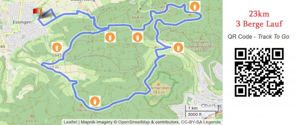 23km drei Berge Lauf LAC
